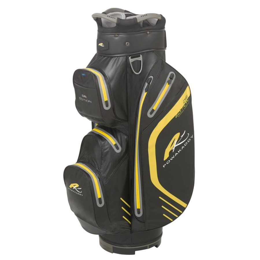 01 2019 PowaKaddy Dri Edition Cart Bag - Black with Yellow Trim
