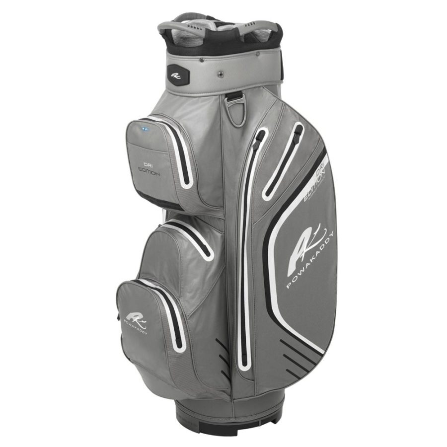 02 2019 PowaKaddy Dri Edition Cart Bag - Gun Metal Black Silver