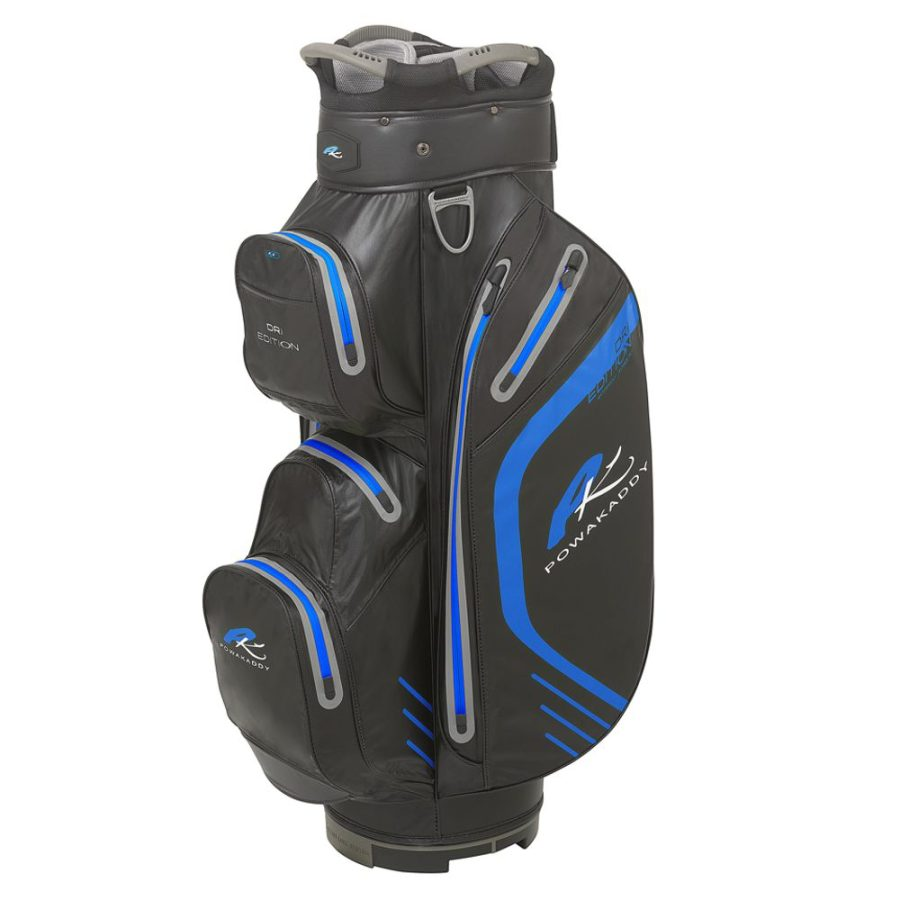 03 2019 PowaKaddy Dri Edition Cart Bag - Black with Blue Trim