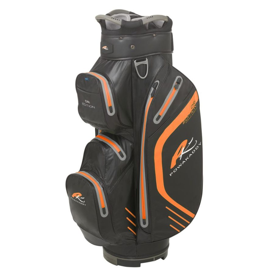05 2019 PowaKaddy Dri Edition Cart Bag - Black with Orange Trim