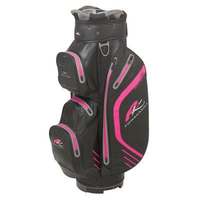 06 2019 PowaKaddy Dri Edition Cart Bag- Black with Hot Pink Trim