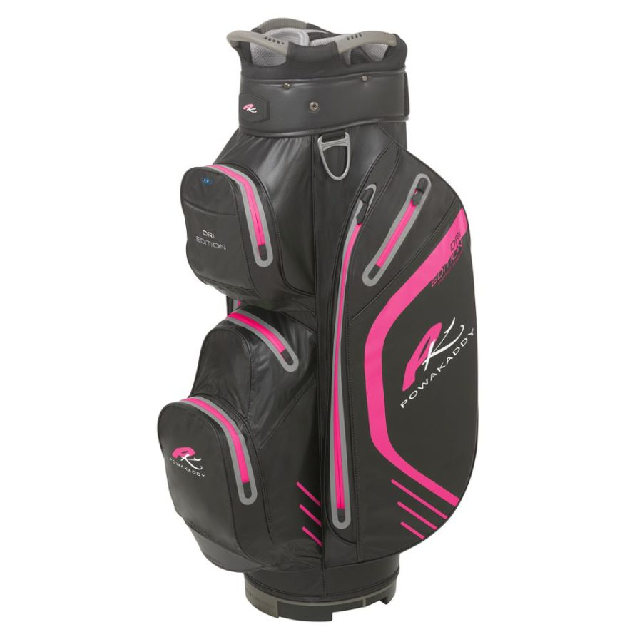 06 2019 PowaKaddy Dri Edition Cart Bag- Black with Hot Pink Trim