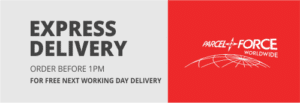 Express Delivery - Order before 1pm for Free Next Working Day Delivery